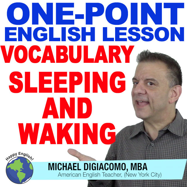 learn-english-free-lesson-sleeping-waking-vocabulary