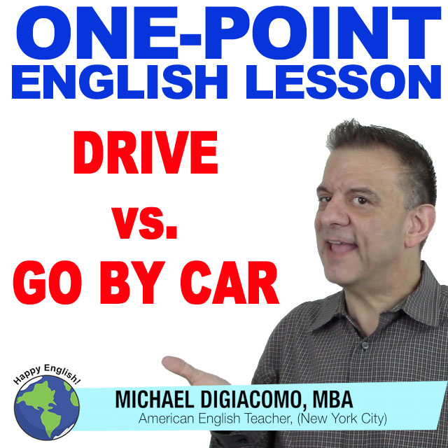 learn-english-free-lesson-drive-go-by-car