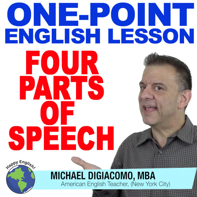 learn-english-free-lesson-four-parts-of-speech