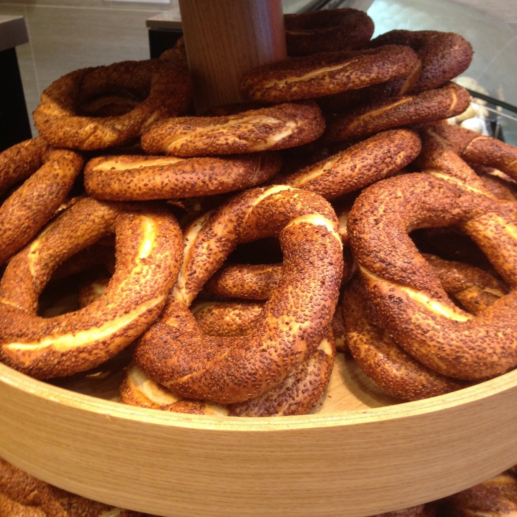 These simit from the Turkish cafe are killer!