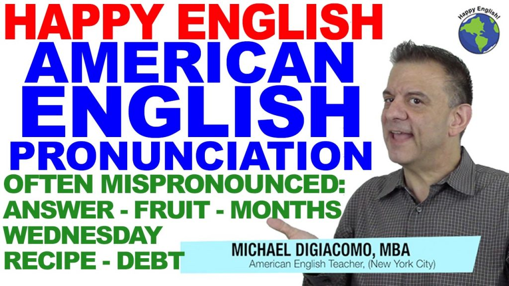 OFTEN-MISpronounced-PRONUNCIATION-HAPPY-ENGLISH-LESSON-AMERICAN-ENGLISH-2018