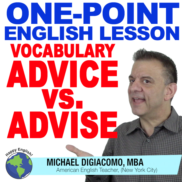 learn-english-free-lesson-advice-vs-advise