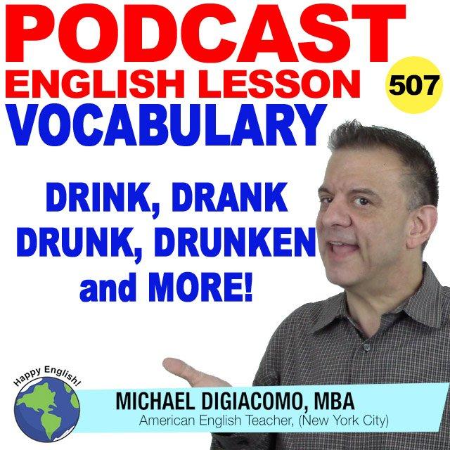 PODCAST-ENGLISH-drink-drank-drunk-drunken-more