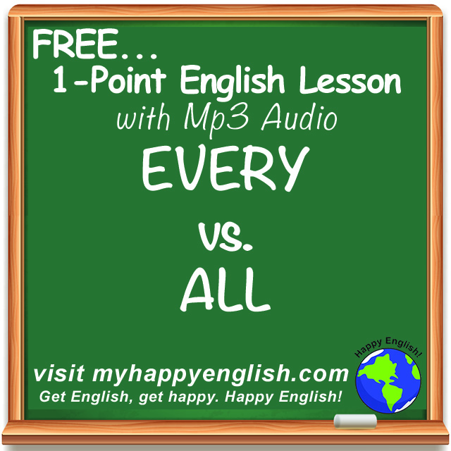 happy-english-free-english-lesson-podcast-every-vs-all