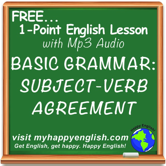 240 – Subject Verb Agreement – English Grammar Lesson