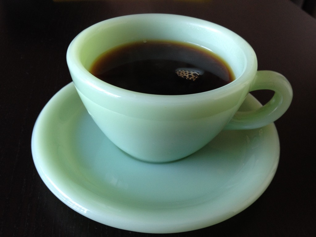 This is the right cup to use for a cup of joe.